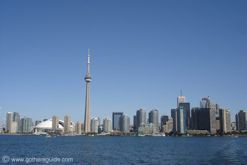 Toronto Skyline view form Centre Island