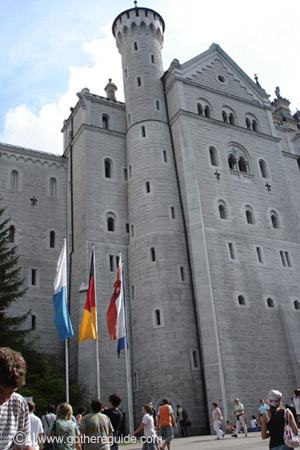 Neuschwanstein castle - side view