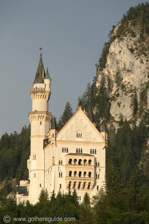 Neuschwanstein castle - view from the village