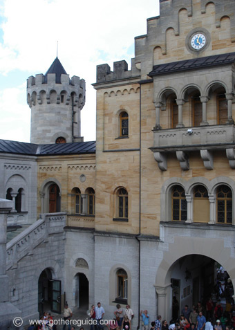 Neuschwanstein castle - court
