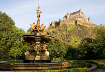 The Princess Street Gardens Edinburgh