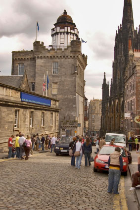 Beginning of Royal Mile Edinburgh