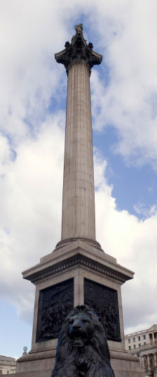 Admiral Nelsons column, Trafalgar Square London