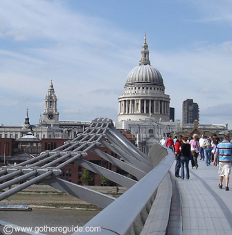 St. Paul's Cathedral and Millenium Bridge London