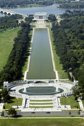 Reflecting Pool and Lincoln Monument National Mall Washington
