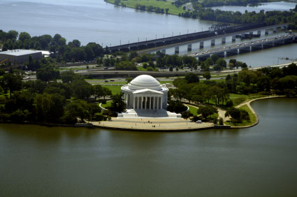 Tidal Basin and Jefferson Memorial Washington